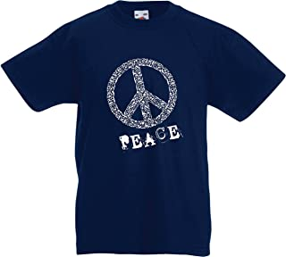 Camiseta para Niño/Niña Símbolo de la Paz 60s 70s Festival Hippie