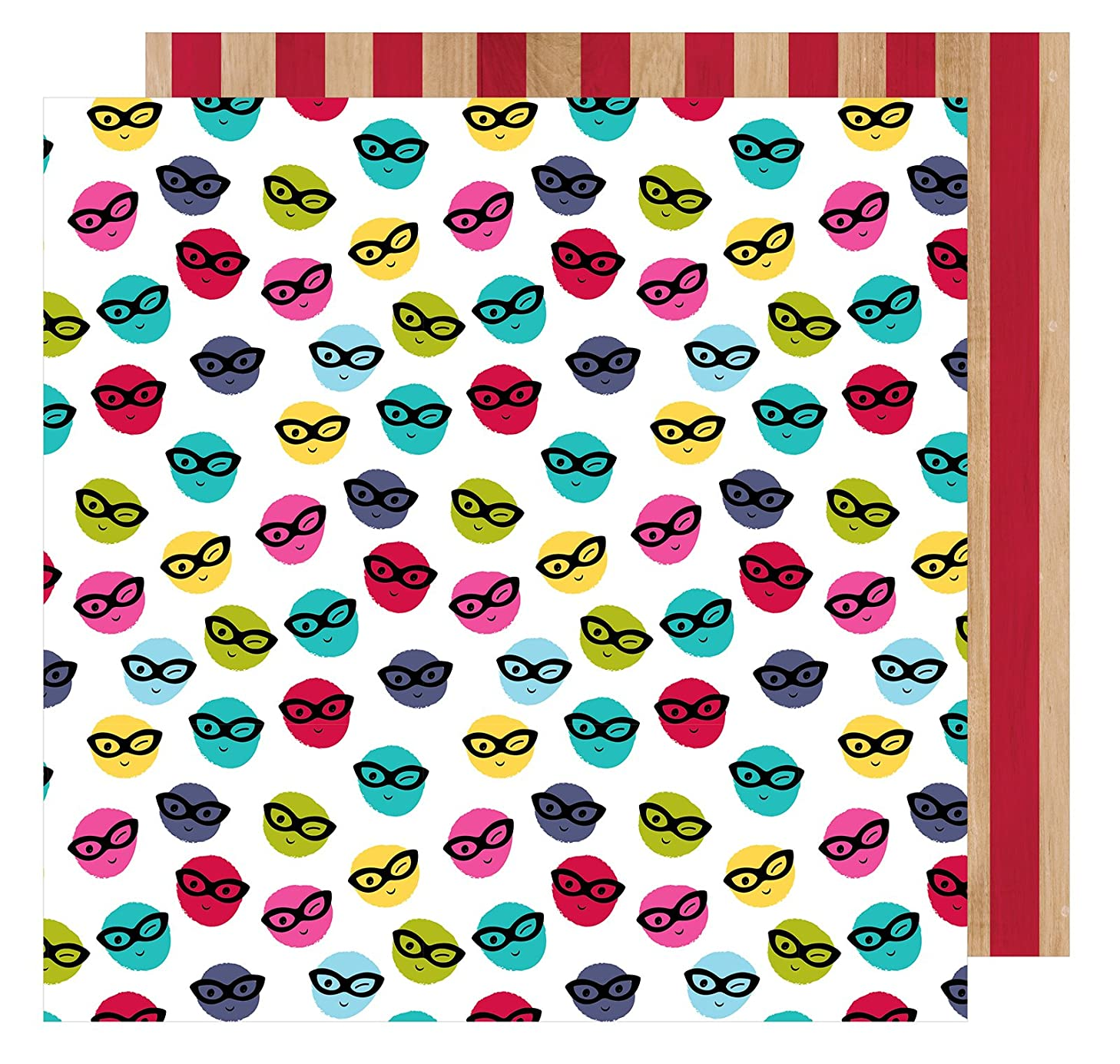 American Crafts Shimelle Glitter Girl 25 Pack of 12 x 12 Inch Paper Go Incognito Piece