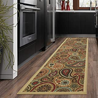 Ottomanson Ottohome Collection Contemporary Paisley Design Modern Hallway Runner Rug, 2'7