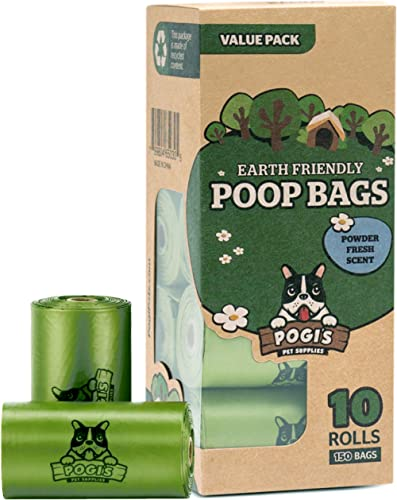 Pogi's Pet Supplies Pogi'S Pet Supplies Poop Bag Large, Biodegradable, Scented -10 Rolls (150 Bags), 1 Count