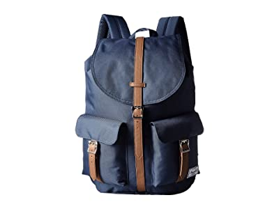 Herschel Supply Co. Dawson (Navy/Tan Synthetic Leather) Bags