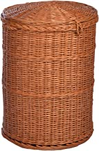 International Cane Furniture Round Laundry Basket (54 cmx 39 Cm, Brown)