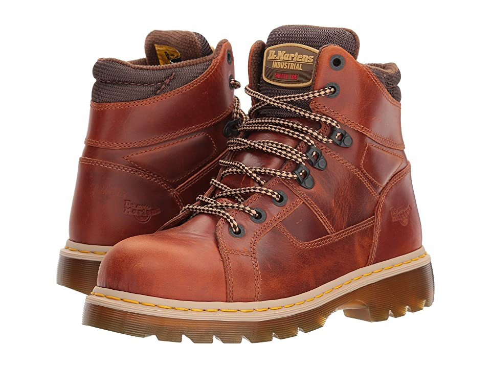 Dr. Martens Ironbridge Steel Toe Lace-to-Toe Boot (Tan) Work Boots