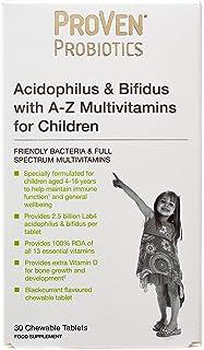 ProVen Proviotics - Acidophilus & Bifidus with A-Z Multivitamins for Children - 30 Chewable Tablets