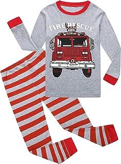 Little Boys Pajamas Dinosaur 100% Cotton Long Sleeve Pjs Toddler Clothes Kids Sleepwear