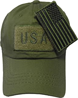 US Flag Attachable Patch Tactical Style Cotton Trucker Baseball Cap Hat