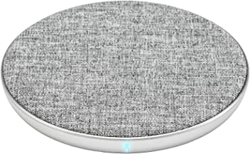 Ventev Wireless Charger Qi Chargepad+ | Fast Charging Wireless Charge Pad | Universally Compatible with Apple (7.5W) and Samsung (10W), Works with All Qi Enabled Devices | Grey