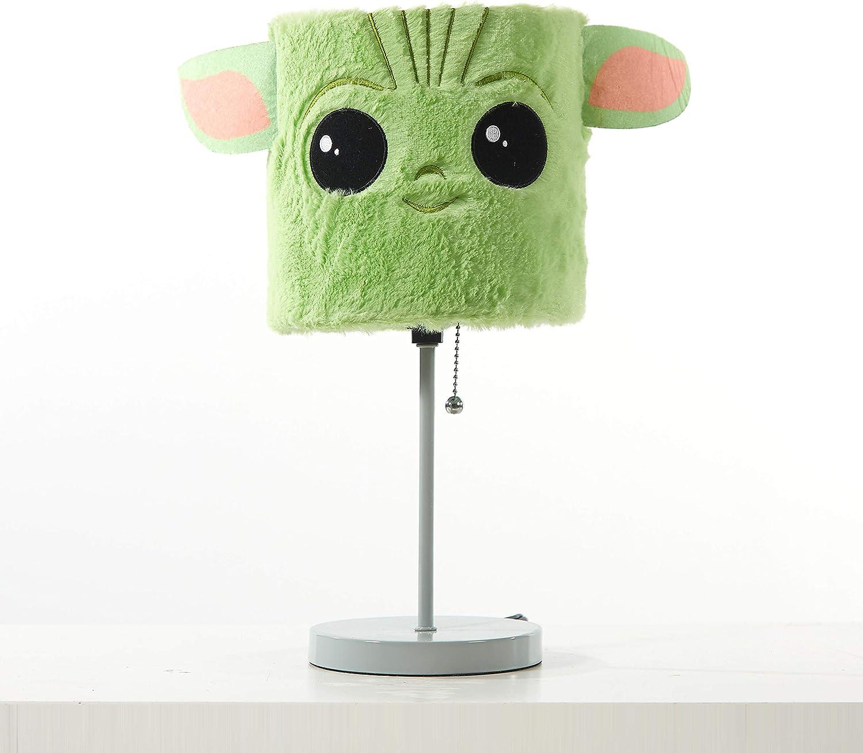 Idea Nuova NK330458 Star Wars: The Mandalorian The Child Plush Shade Table Lamp, Green