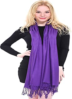 CJ Apparel Solid Colour Shawl Pashmina Scarf Wrap Shawls Pashminas Scarves Seconds (60+ colours) NEW