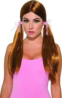 pigtail wig brown