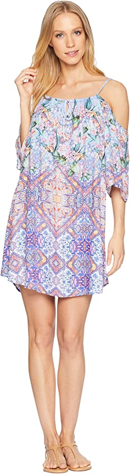 Festival a Cannes Cold Shoulder Tunic Cover-Up