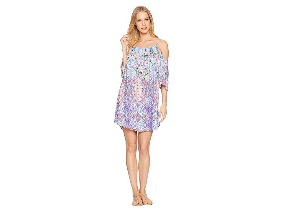 Nanette Lepore Festival a Cannes Cold Shoulder Tunic Cover-Up (Multi) Women