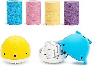 Munchkin Colour Buddies Moisturising Bath Bombs & Toy Dispenser Set, Includes 20x Colourful Bath Bombs and 2X Toy Dispensers