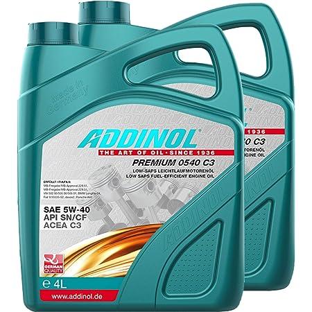 Addinol 2x Motoröl Motorenöl Motor Motoren Motor Oil Engine Oil Benzin Diesel 5w 40 Premium 5w40 C3 4l 72098025 Auto