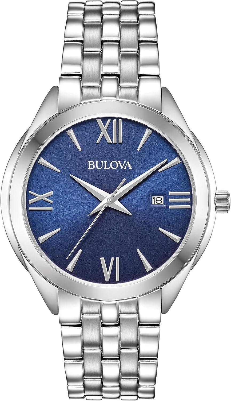 Bulova Reloj Analógico para Hombre de Cuarzo con Correa en Acero Inoxidable 96B303