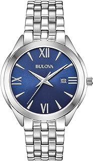 Bulova - Reloj Analógico para Hombre de Cuarzo con Correa en Acero Inoxidable 96B303