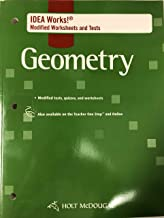Holt McDougal Geometry: I.D.E.A. Works! Modified Worksheets and Tests