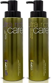 Nuspa Natural Organic Sulfate Free Moroccan Argan Oil Shampoo and Conditioner Set - Color Safe Treatment, UV Protection, I...