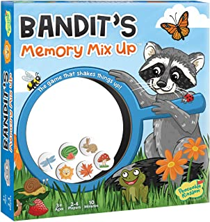 Peaceable Kingdom Bandit's Memory Mix-Up - Memory Game for Kids - Great for Single Players, Big & Small Groups - Ages 3 & up
