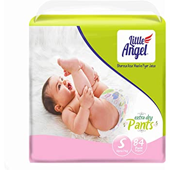 Little Angel Baby Diaper Pants, Small (84 Count)