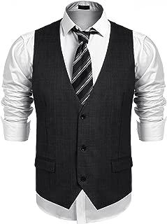 Men's Business Suit Vest,Slim Fit Skinny Wedding Waistcoat