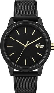 Lacoste Men's TR90 Japanese Quartz Watch with Rubber Strap, Black, 20 (Model: 2011010)