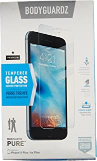 BodyGuardz - Pure Glass Screen Protector, Ultra-thin Tempered Glass Screen Protection for iPhone 6 Plus/6S Plus