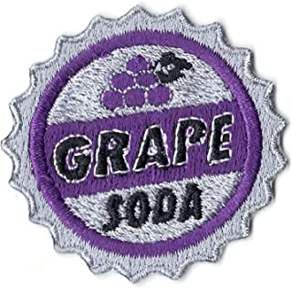 Grape Soda Bottle Cap Patch Scout Merit Badge Embroidered Iron on
