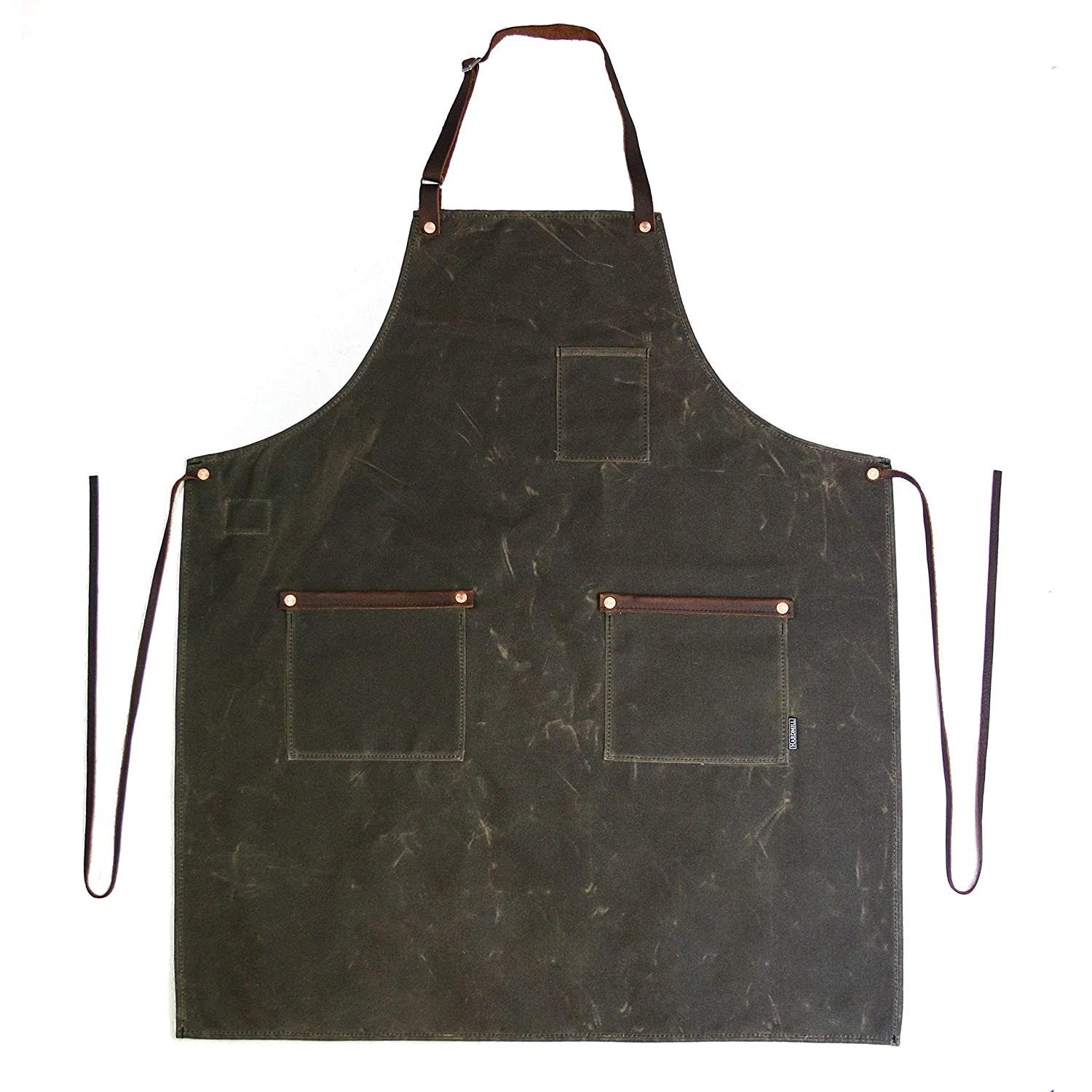 Industry Apron - lowest price Waxed Canvas in 2021 spring and summer new Dark USA Made Oak