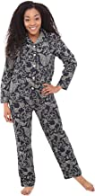Alexander Del Rossa Women's Lightweight Button Down Pajama Set, Long Floral Cotton Pjs