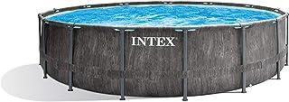 Intex Pool Set Greywood Prism Frame Premium-Juego de alberca (4,6 x 122 cm)