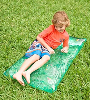 HearthSong® Small Rectangle AquaPod Outdoor Water Play Mat with Colorful Fish, 48 L x 24 W