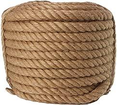 Twisted Manila Rope Jute Rope 100 Feet Natural Jute Twine Hemp Rope 3/4-Inch Diameter Twine Burlap Rope