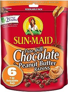 Sponsored Ad - SUN-MAID Milk Chocolate Covered Raisins Snacks Pure Milk Chocolate 'n Peanut Butter Raisins, 7 oz Resealabl...