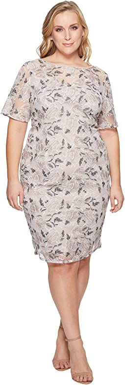 Adrianna Papell - Plus Size Suzette Embroidery Sheath