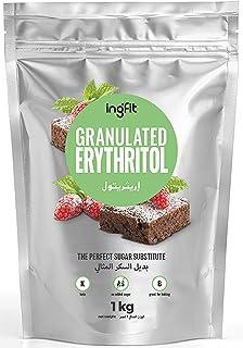 ingfit 100% Natural Erythritol - Granulated, ZERO Calorie, Keto, Sugar Replacement - 1 Kg (2.2 lb)