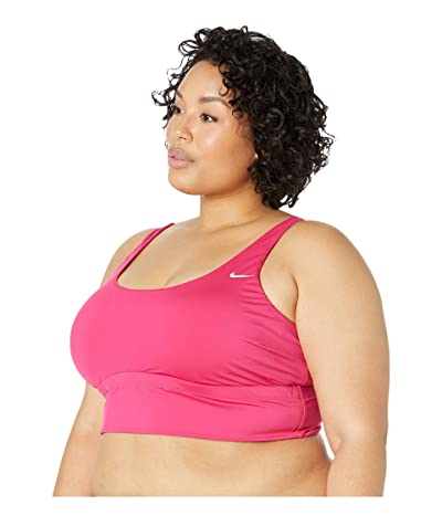 Nike Plus Size Essential Scoop Neck Midkini (Fireberry) Women
