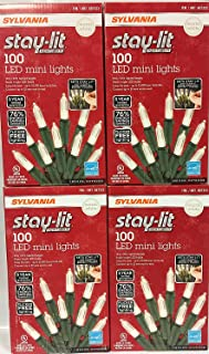 Sylvania Stay-Lit Platinum LED Indoor/Outdoor Christmas String Lights (Various Colors & Sizes) (400ct mini lights, Warm White)