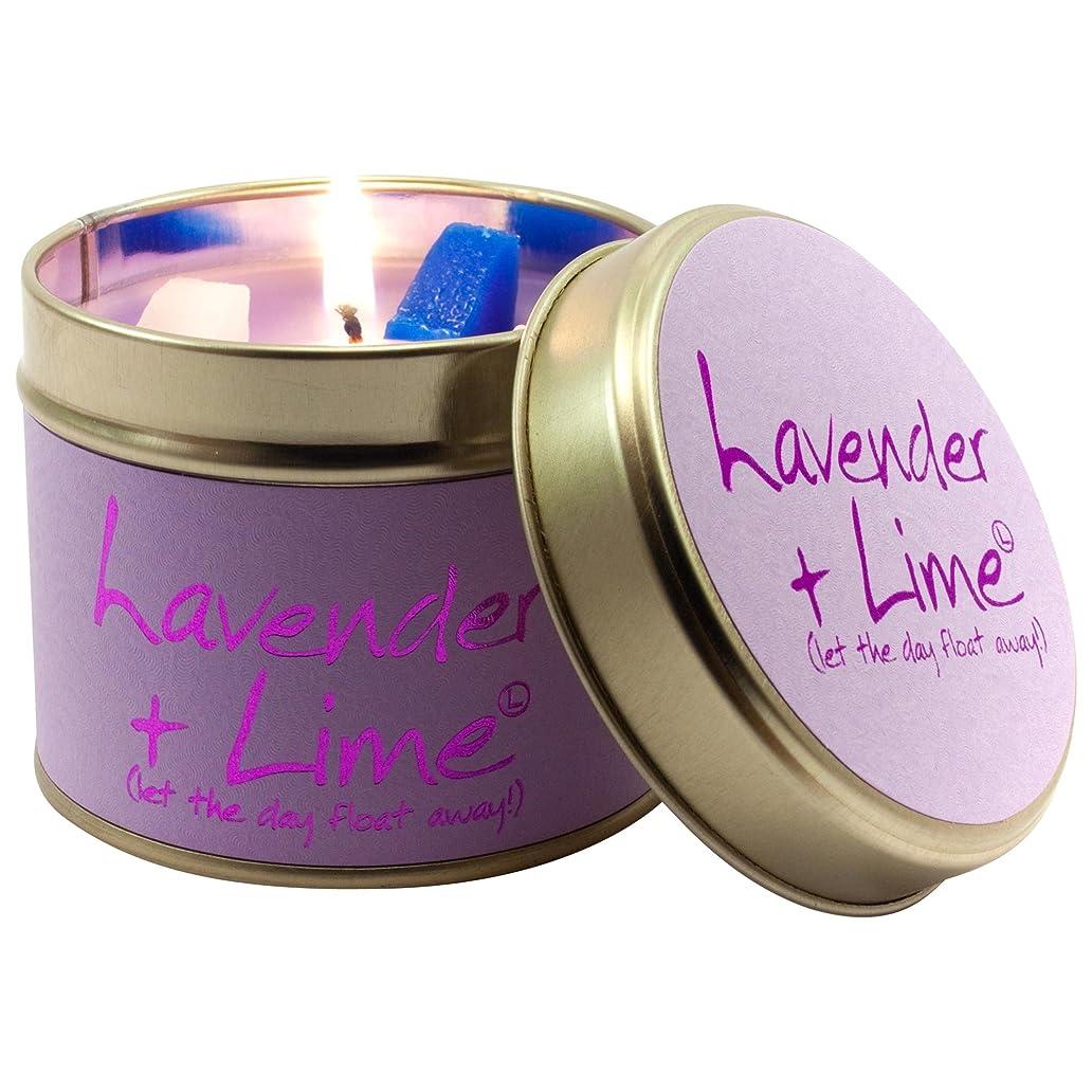 お気に入りピボット円形のユリ炎ラベンダー、ライムの香りのキャンドルジャー (Lily-Flame) - Lily-Flame Lavender and Lime Scented Candle Jar [並行輸入品]