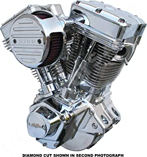 Ultima El Bruto Competition Series Diamond Cut Evolution Style Big Bore Motorcycle Engine (Chrome & Show Polished, 140 Cubic Inches)