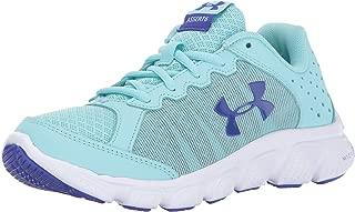 Under Armour Girls' Grade School Micro G Assert 6 Sneaker, Blue Infinity (300)/White, 7