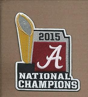 Iron On Patch Alabama Crimson Tide 2015 National Champions