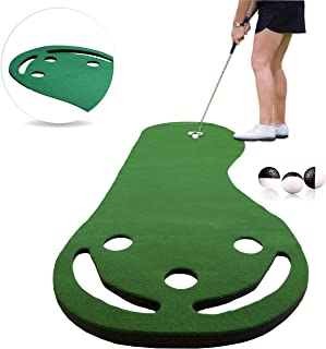 Rukket Putting Green & Golf Chipping Net Bundle   Indoor & Outdoor Practice Greens   Mats for Home & Office   Portable Golfing Target Accessories   Alignment Sticks