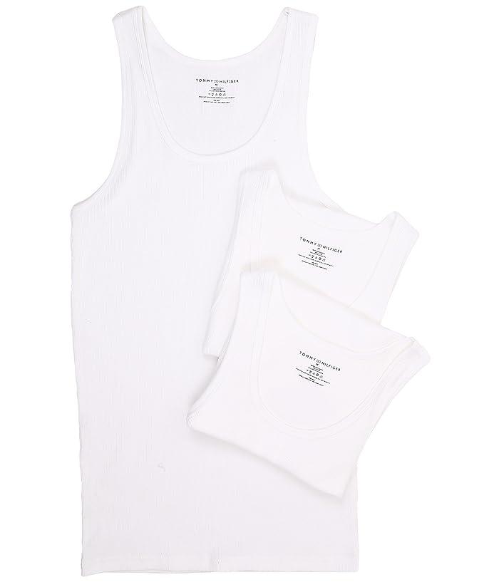 1920s Men's Underwear, Pajamas, Robes and Socks History Tommy Hilfiger Cotton A-Shirt 3-Pack White Mens Underwear $27.94 AT vintagedancer.com