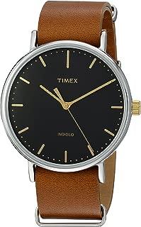 Unisex TW2P97900 Fairfield 41 Brown Leather Slip-Thru Strap Watch