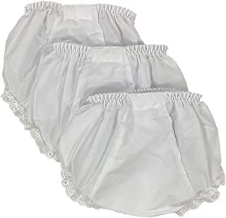 Baby Girls Bloomers Double Seat Diaper Cover Package of 3