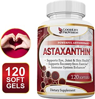 Natural Astaxanthin Supplement / Best Pure Antioxidant from Microalgae, Helps Skin Care & Eye, Arthritic Joints, Healthy Aging, Boosting Energy & Strength - 10 mg, 120 Non-GMO Softgels