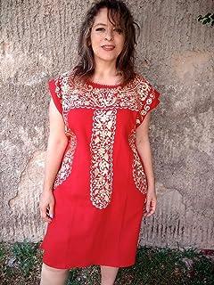 Vestido Mexicano Bordado de Fiesta para Mujer