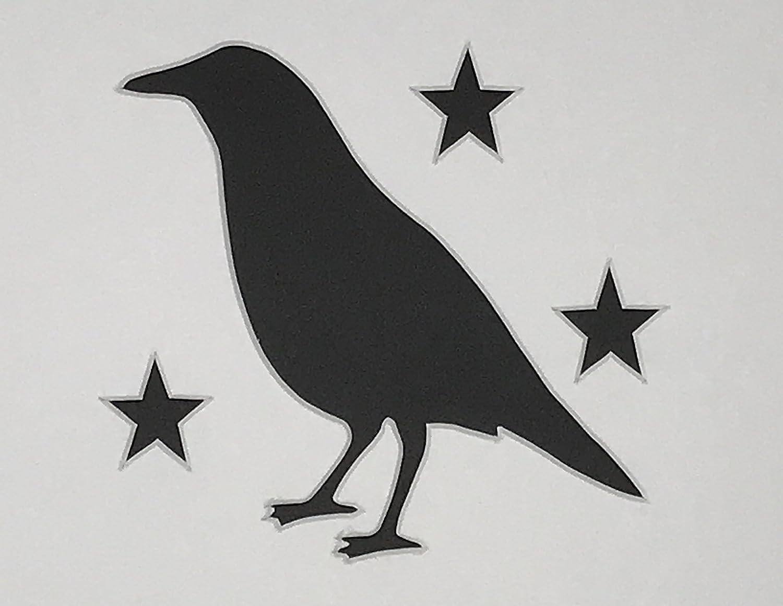 Crow Stencil~Primitive~OLD ROUGH /& READY CROW~Black Bird Raven Crow