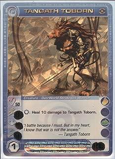 Chaotic TANGATH TOBORN Super Rare Foil Card MAX Courage STAT of 50 Dawn of Perim